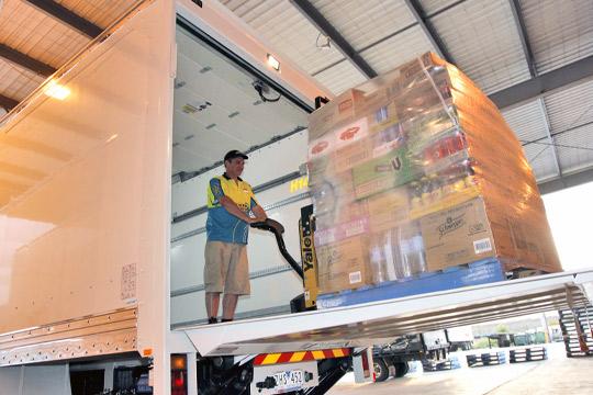 Dyers Logistics Rigid truck tailgate