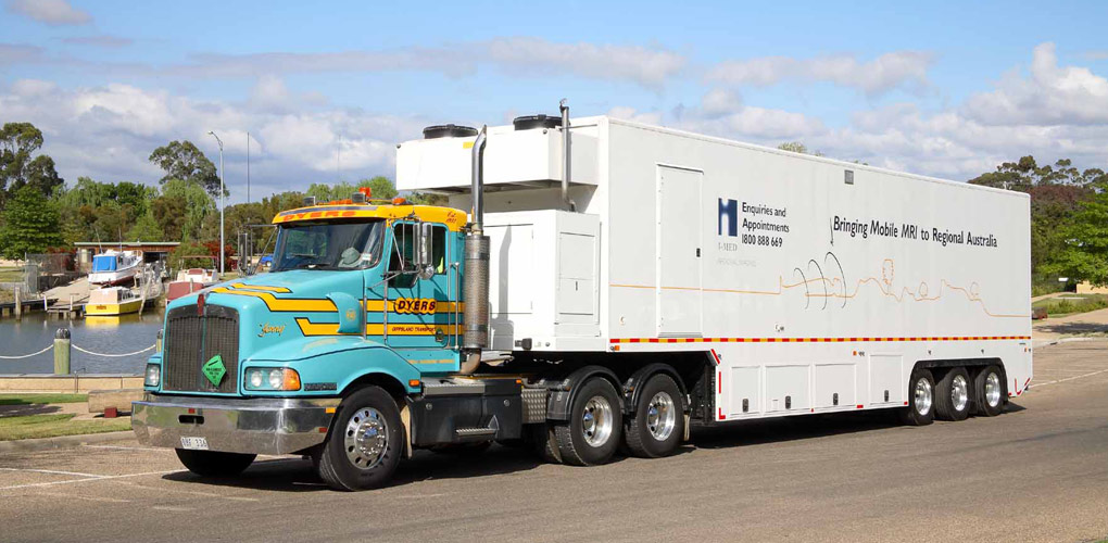 Dyers truck with MRI trailer