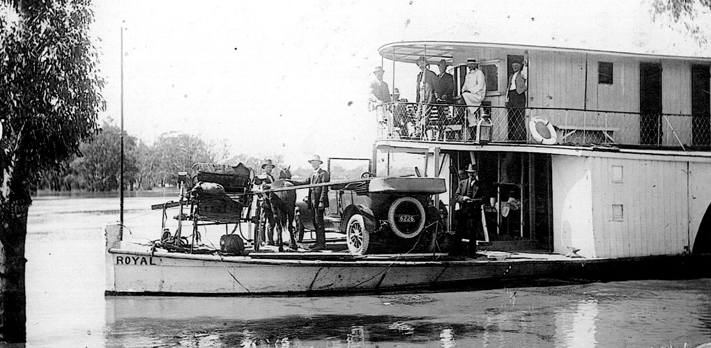 Dyers Logistics historical photo of paddle steamer