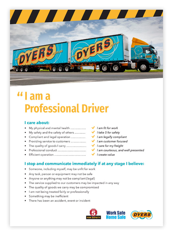 Dyers Driver safety poster