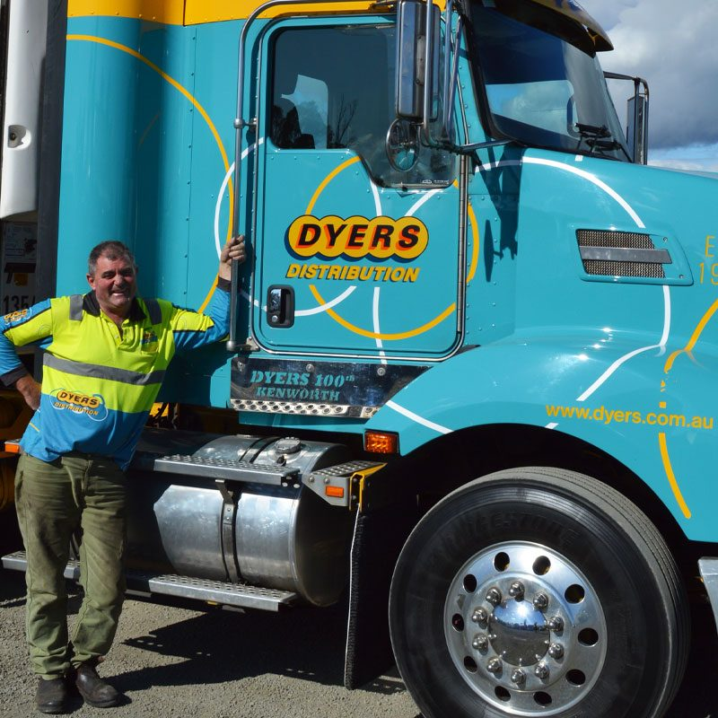 Dyers Logistics driver and truck